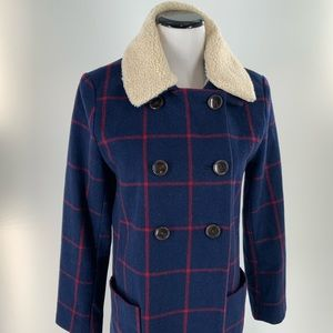 Old Navy Womens Double Breasted Peacoat Jacket
